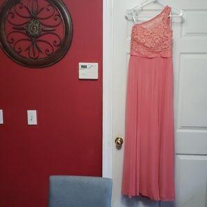 David's Bridal dress parfait color